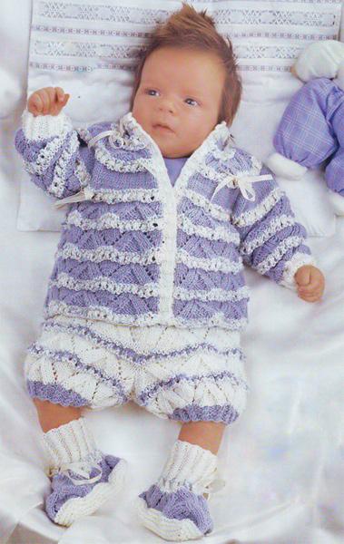 """На нашем женском портале  """"Дамочка """" Вы в любой момент можете найти публикацию - вязание для малышей ажурные костюмы..."""