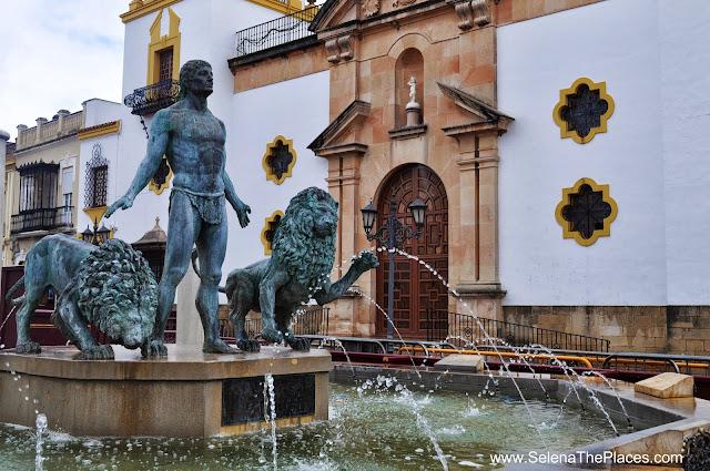 Fountain in Ronda, Spain