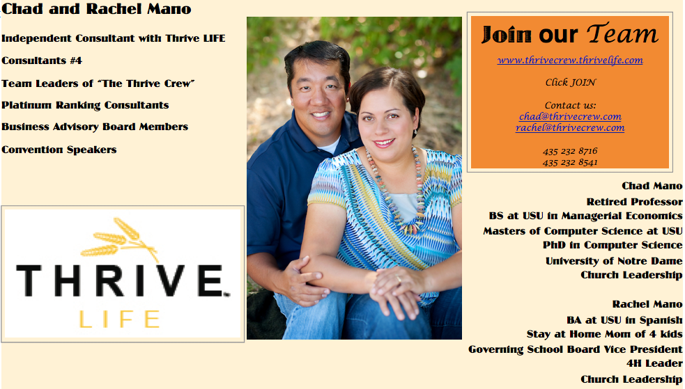 Thrive Crew Team Training by Chad and Rachel Mano
