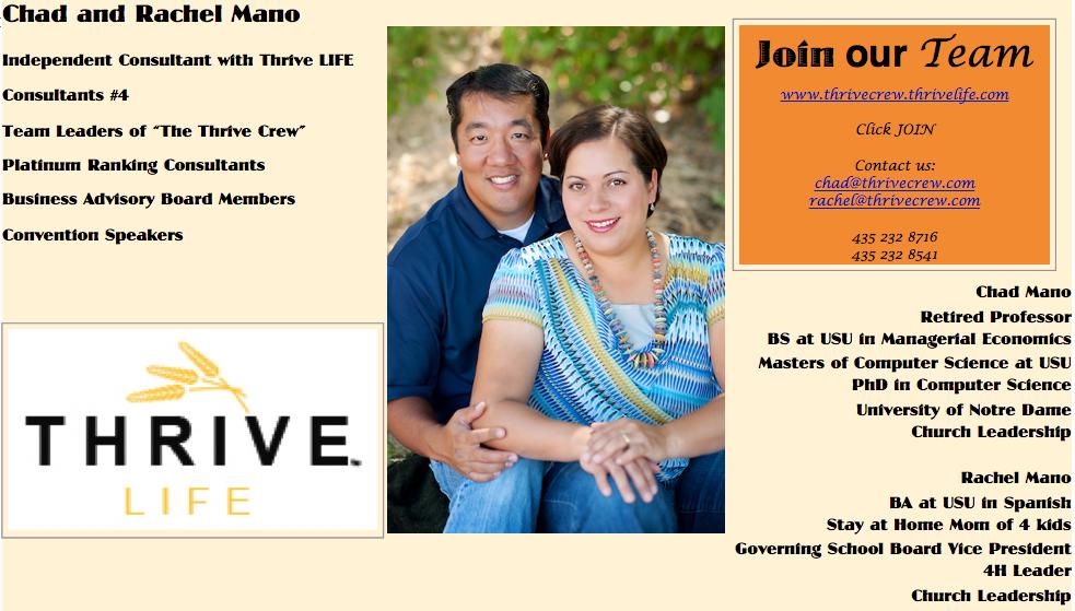 Thrive Crew Team Training by Chad and Rachel Mano