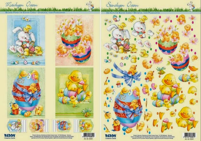 Reddy Easter die cut decoupage at Foil Play
