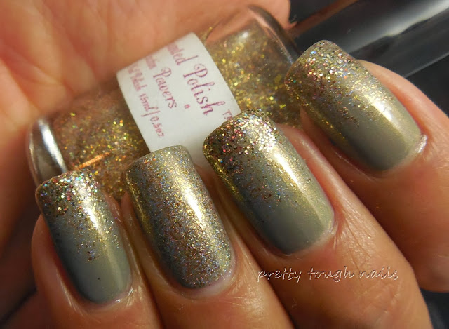 Takko Lacquer Electric Apple NYC glitter gradient