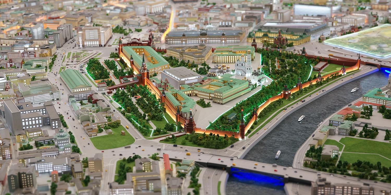 Макет Москвы на ВДНХ.