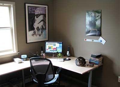 Beau Idea Of Best Desgin Space Work Corner In Home Office