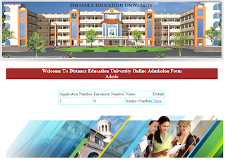 List of Admission Application