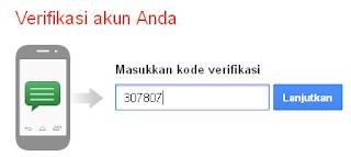 kode verifikasi google lewat sms