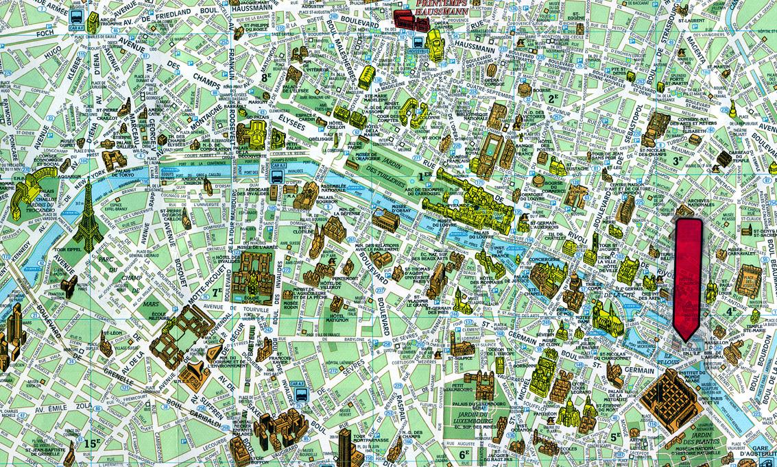 Monumentos De Paris Mapa