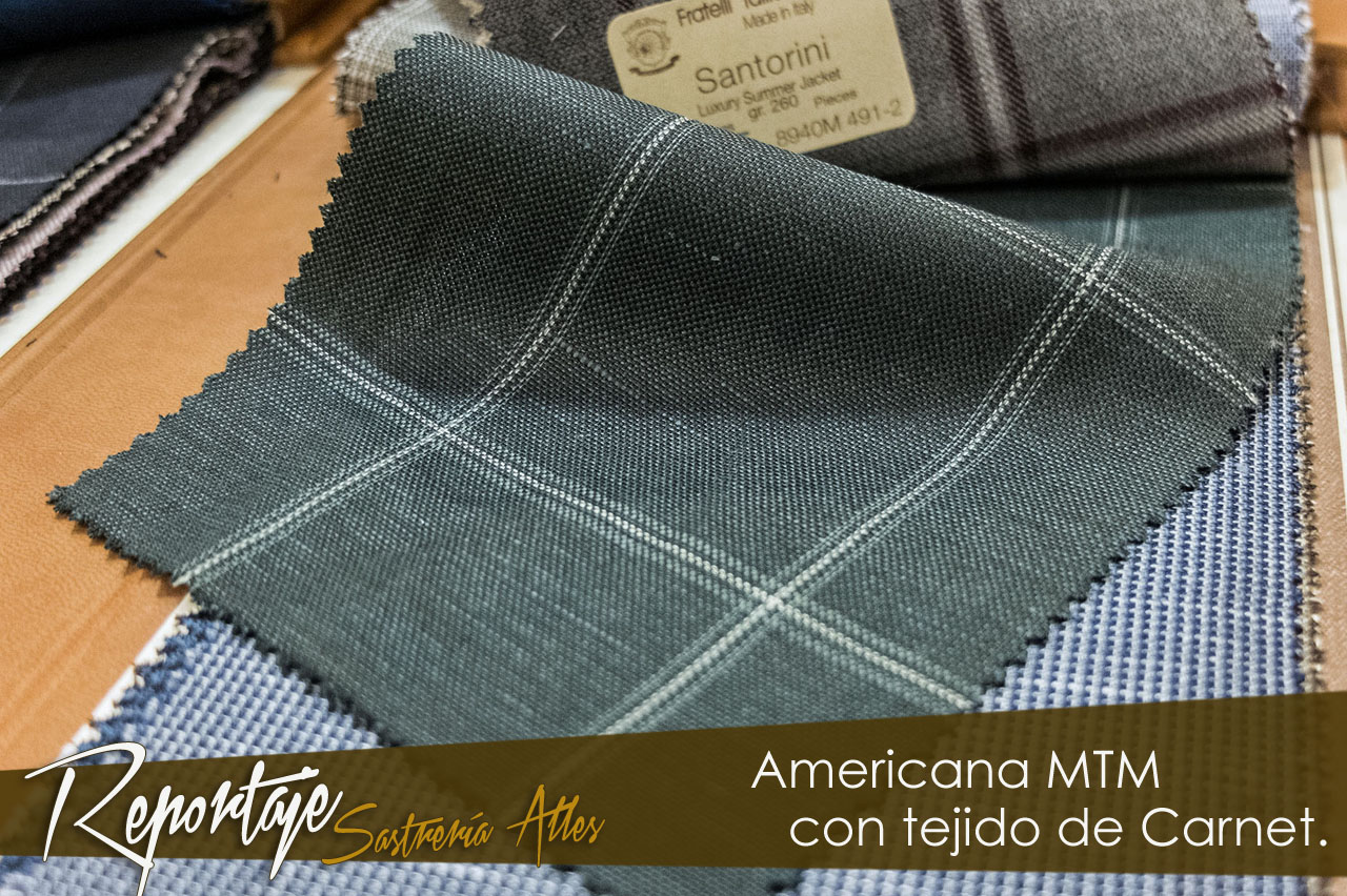 Proceso de Americana Made to Measure de Sastrería Alles.