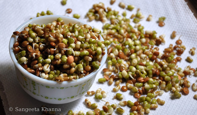 Making sprouts at home: using them in the best possible ways : Aloo methi with Fenugreek sprouts...