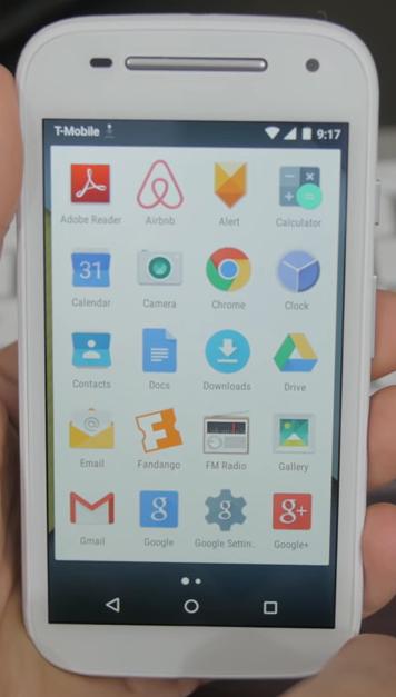 The Moto E has 4.5 inch display.