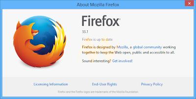 Mozilla Firefox About