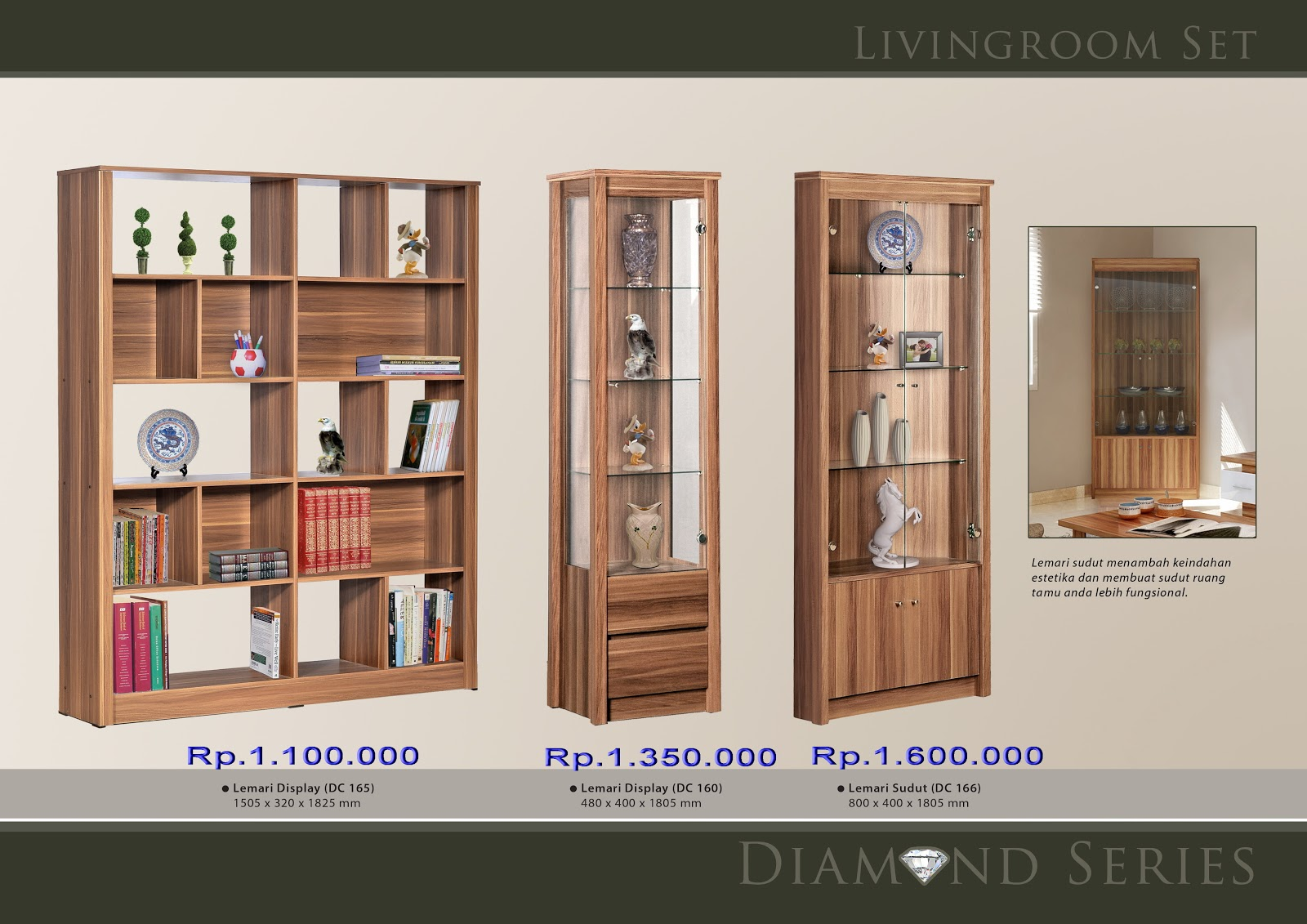 BAHAN MATERIAL:PARTICLE BOARD,MDF title=