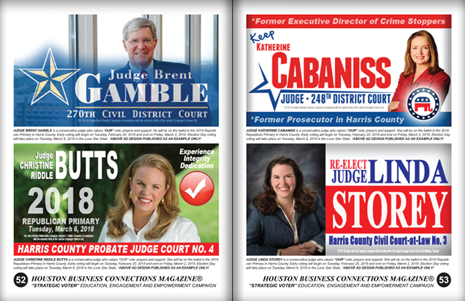 "PAGES 52 AND 53 - HOUSTON BUSINESS CONNECTIONS MAGAZINE© ""STRATEGIC VOTER"" MOBILIZATION PROJECT"
