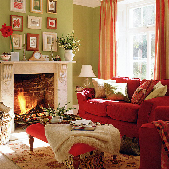 Cozy Living Room Colors Extraordinary With Red and Green Living Room Images
