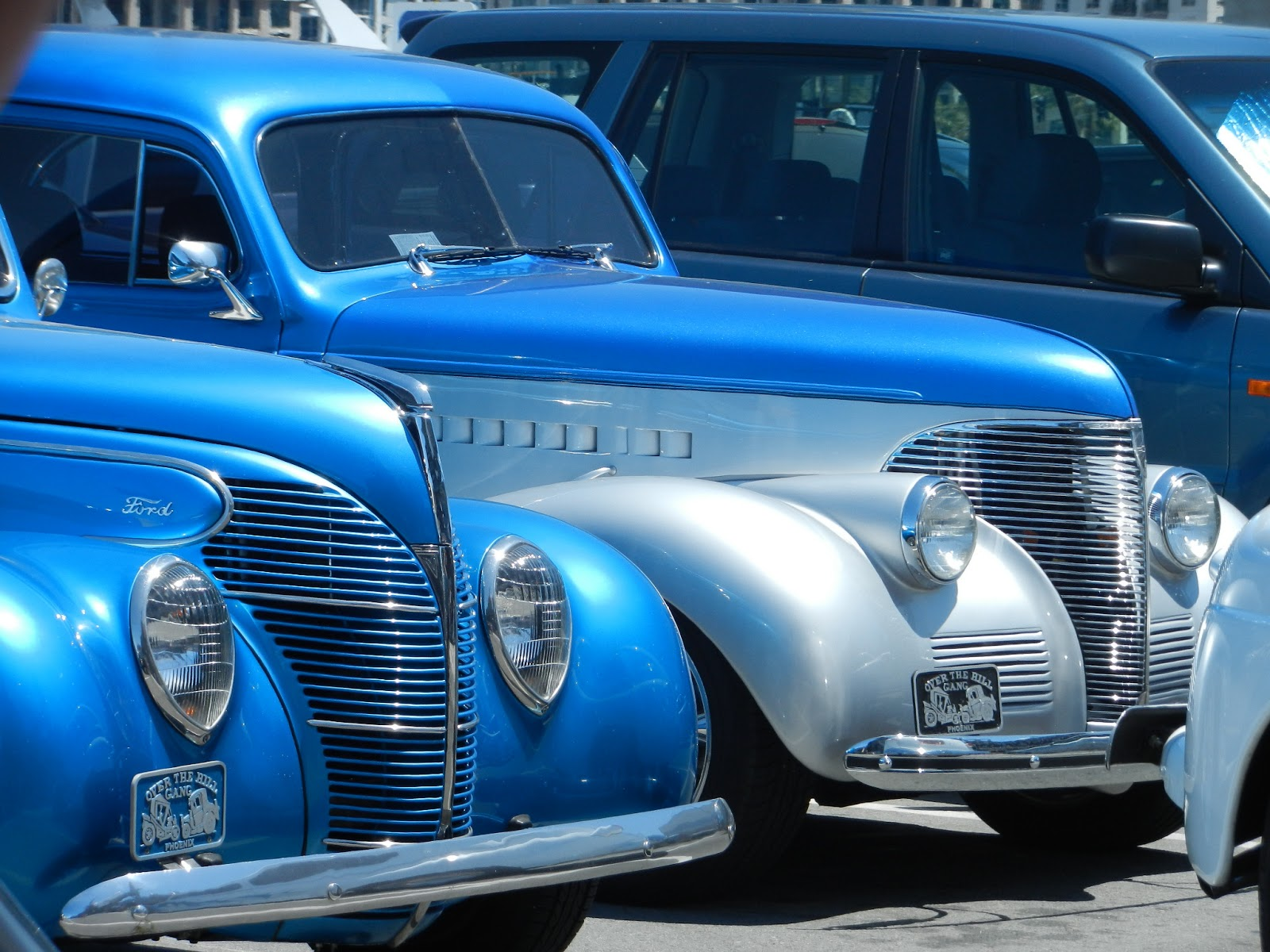 blue hot rod pictures