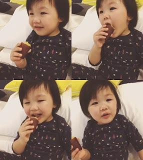 Uhm Ji On eat