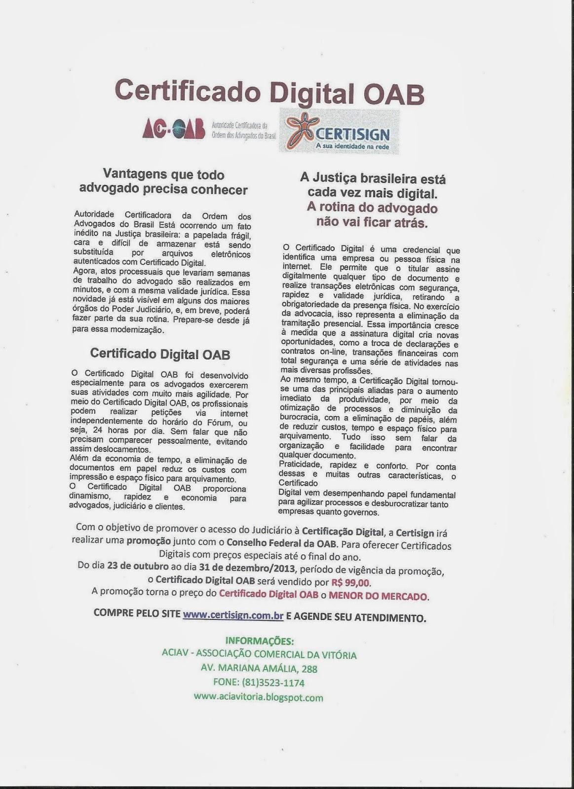 Aciav outubro 2013 - Oficinas certificado digital ...