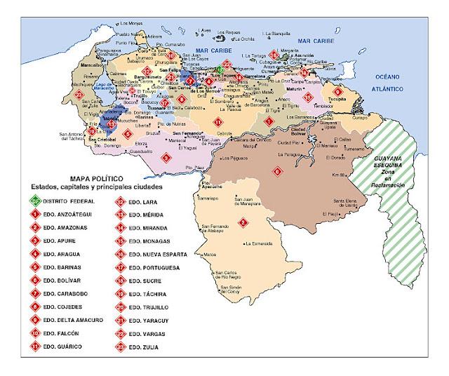 Mapas de Venezuela: 04/