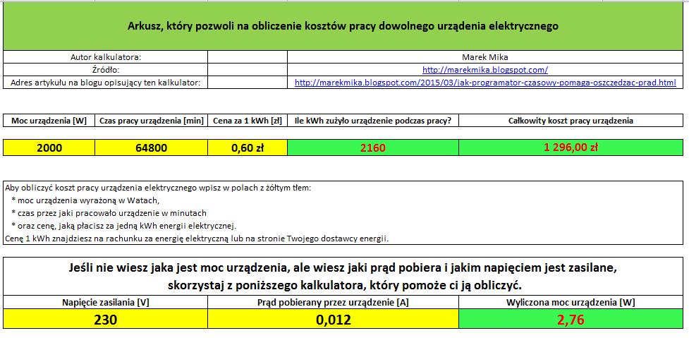 Oszczędności z programatora czasowego w przypadku grzałki podgrzewającej CWU.