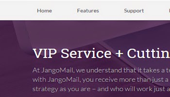 Preview of the new JangoMail homepage, we are working on a new website design.