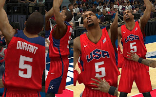 NBA 2K13 Team USA Red Alternate Jersey