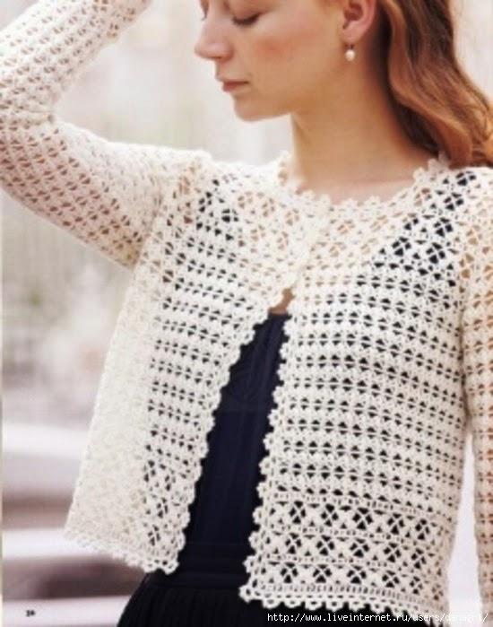 Saco corto tejido con ganchillo - con moldes y patrones | Todo crochet