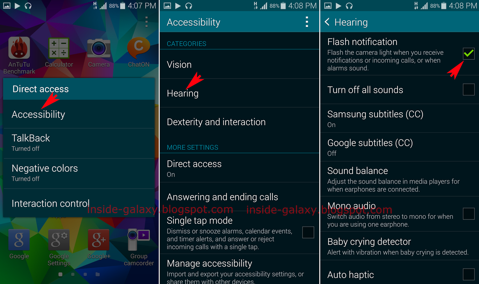 Samsung Galaxy S5: How to Enable or Disable Flash Notification in