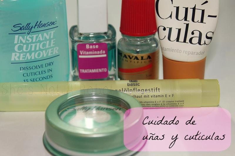 Productos para el cuidado de las uñas y cutículas. - She\'s Not A Robot