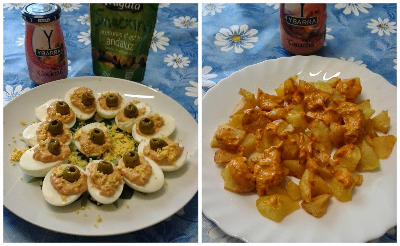 Recetas con encanto Huevos rellenos con salsa Cocktail y patatas a