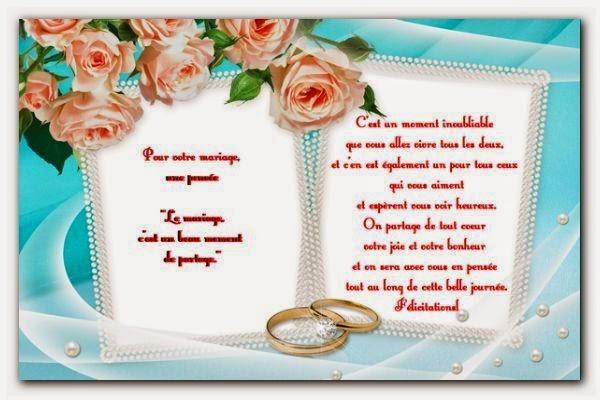 Carte pour félicitation mariage