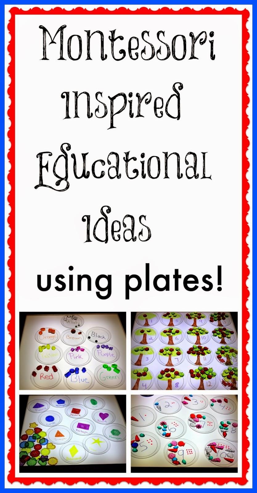 light table Montessori inspired