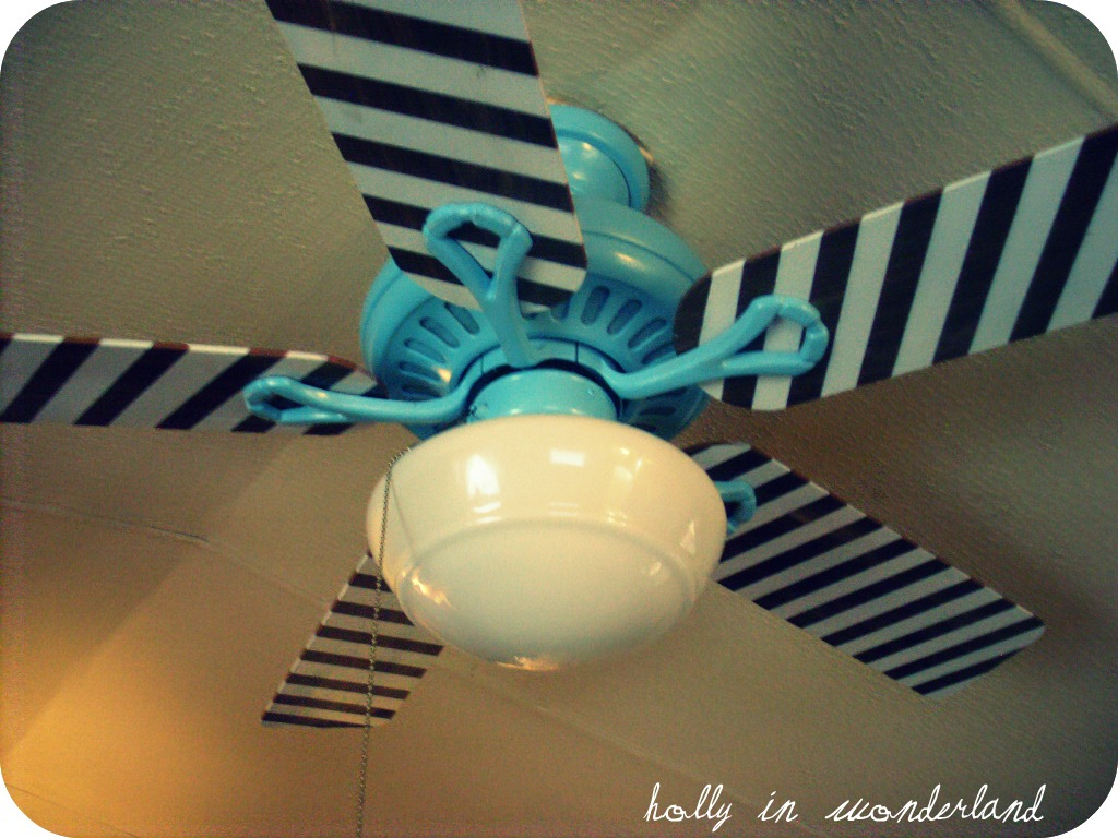 Paint Ceiling Fan : Painted ceiling fan holly in wonderland