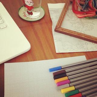 borduur raster borduur hokjes patroon