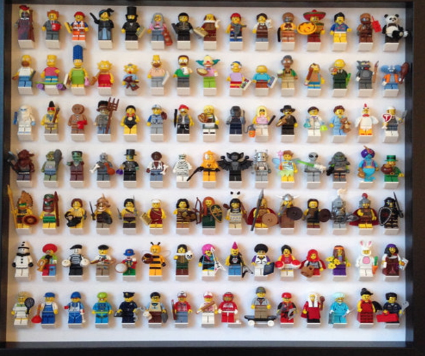 Lego Figure Framed Display