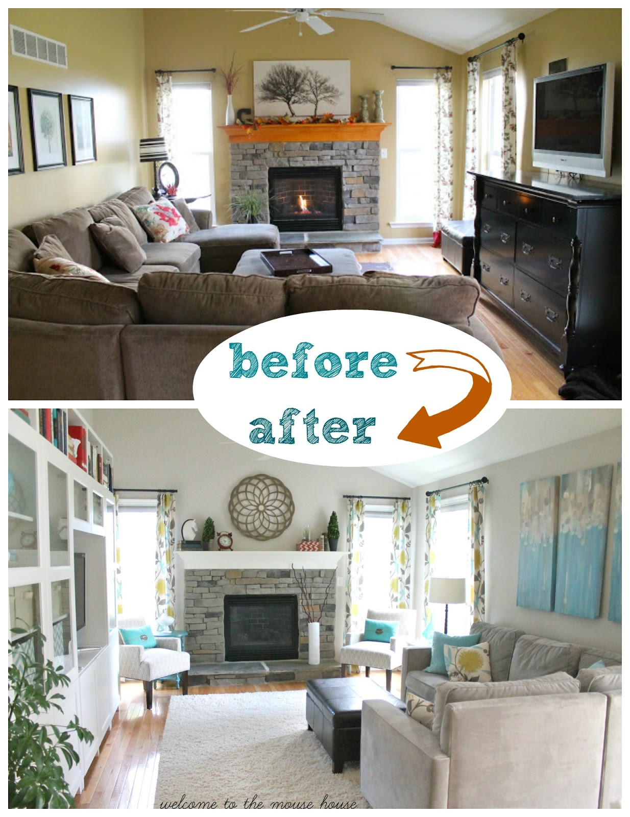 The New Family Room Reveal - Family room seating