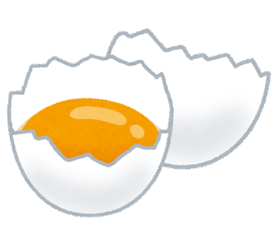 卵の黄身のイラスト