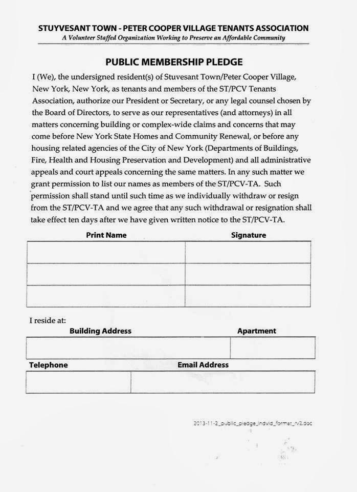 The Stuyvesant Town Report: November 2013