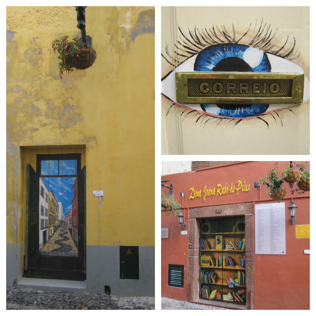street art painted doors in madeira