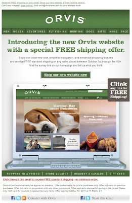 Click to view this Oct. 3, 2011 Orvis email full-sized
