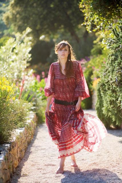 sheer indian gauze dress