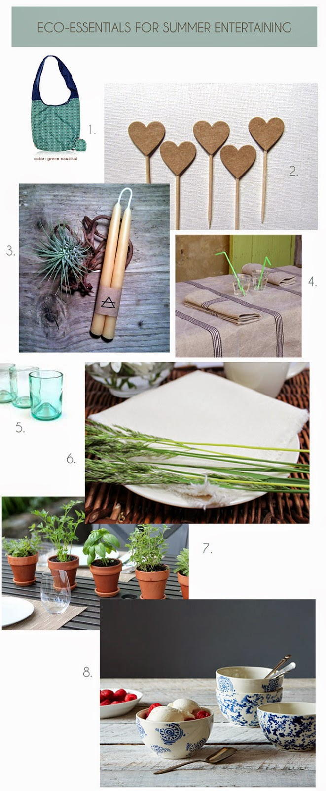 eco-friendly products for outdoor table setting