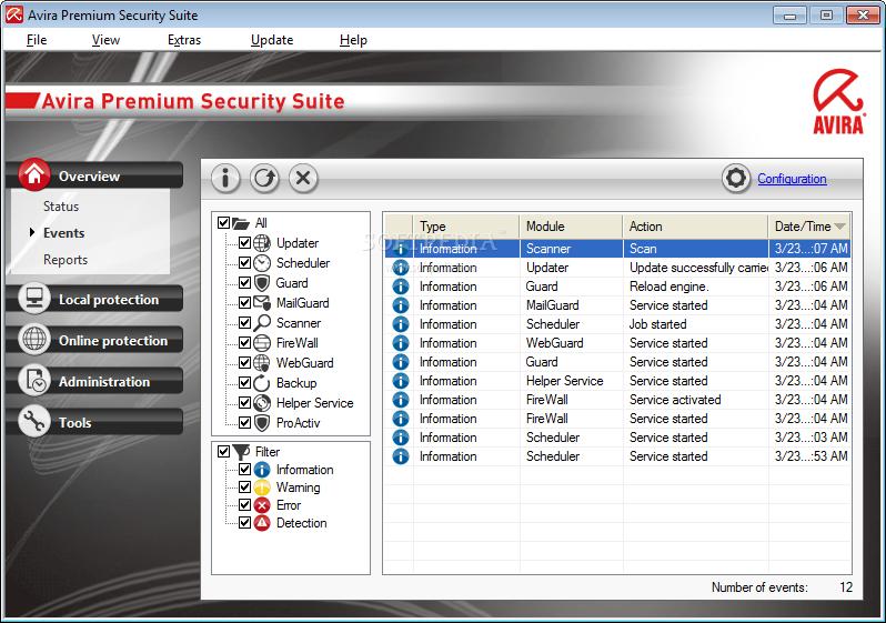 Avira Premium Security Suite للحماية