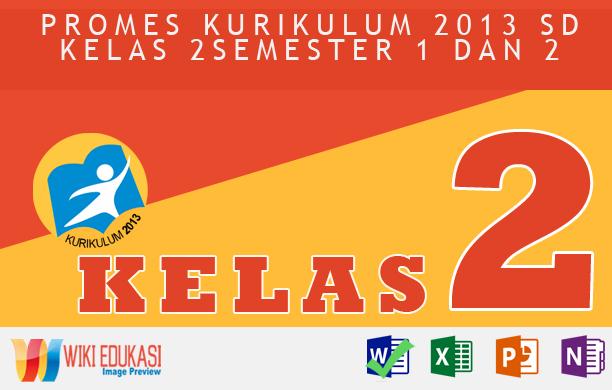 PROMES KURIKULUM 2013 SD KELAS 2 SEMESTER 1 dan 2