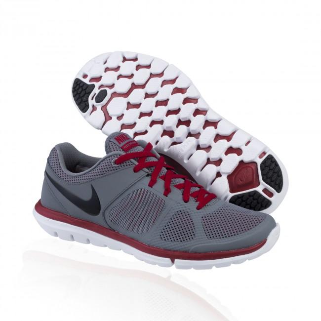 Nike 642791 003 Flex Run 2014 Mens Running Shoes  GreyBlackRed