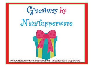 Giveaway by NazaTupperware