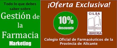 Oferta exclusiva de Libreria Cilsa para el Colegio Oficial Farmacéuticos de la Provincia de Alicante.