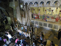 Bazylika Bożego Grobu - widok z Golgoty