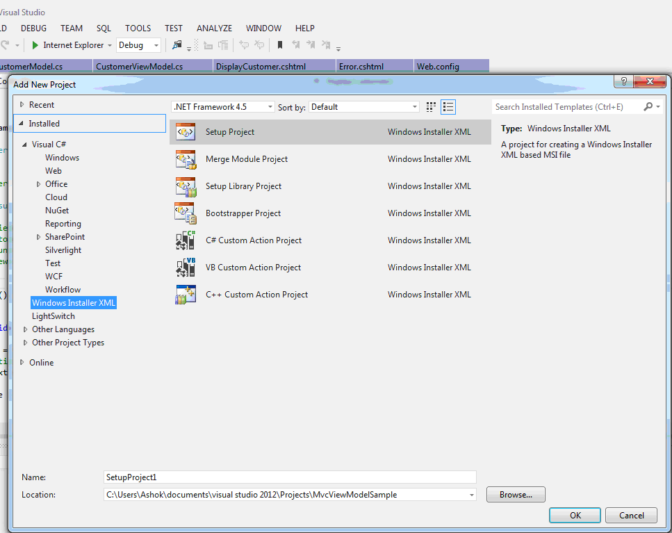 Wix Installer Learning