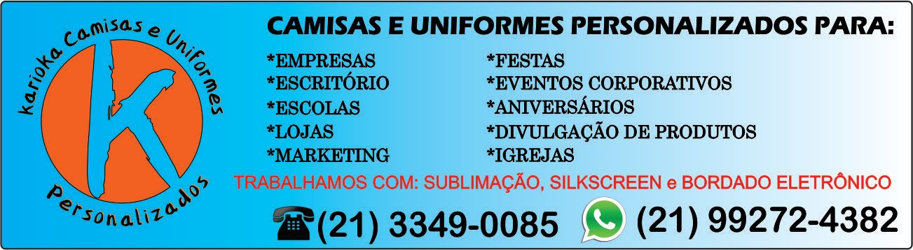 Camisas e Uniformes Personalizados para: Empresas, Loja, Comércio, Escritório!