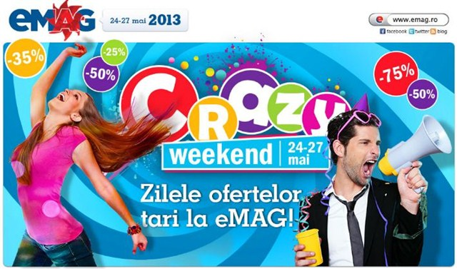 "Vedeti oferta ""Crazy Weekend"" la EMAG"